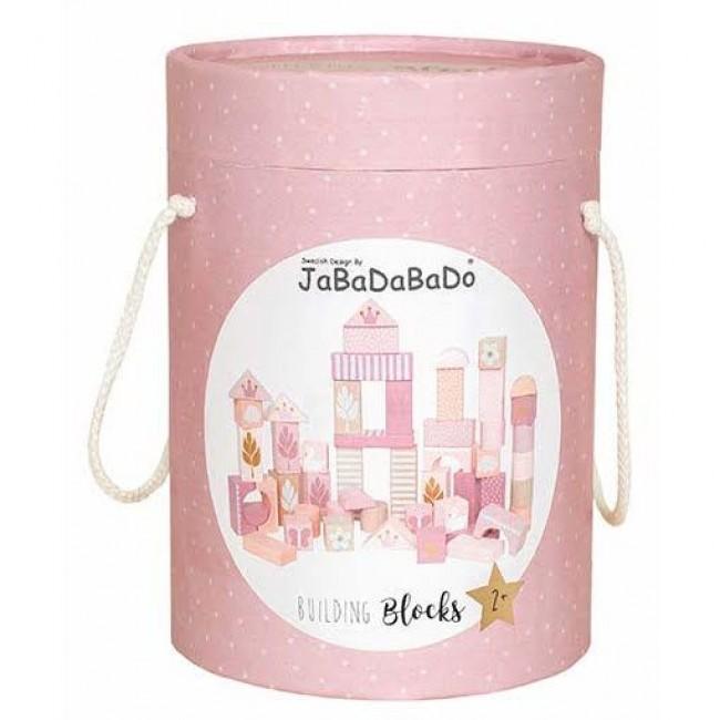 Jabadabado - Drvene kocke roze
