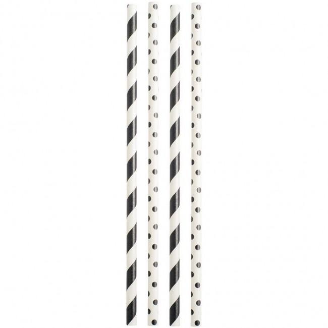 Jabadabado - Slamčice crno-bele